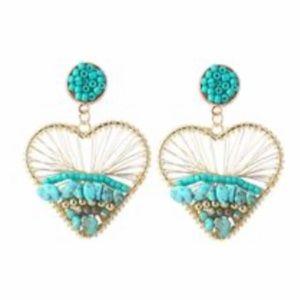 Bohemian heart earrings